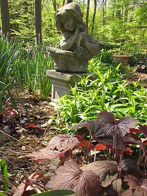 Pamela's garden in the early spring
