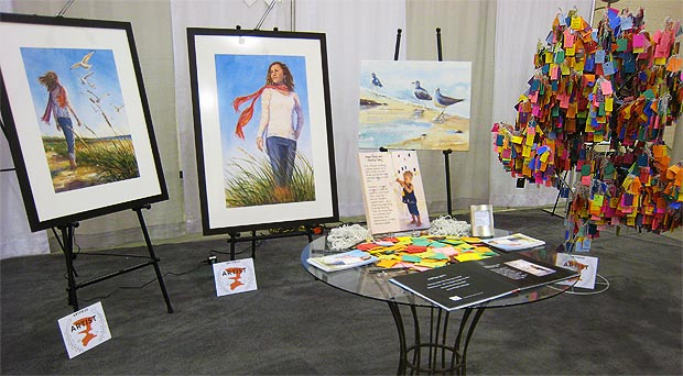 Braving the Wind watercolor series at Women's Expo 2012