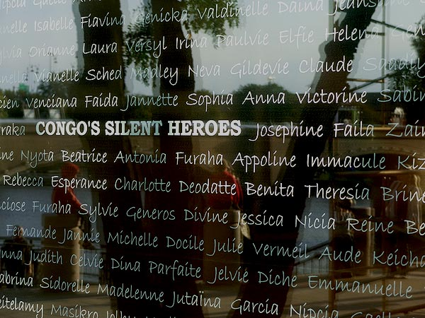 Congo's Silent Heroes window decal - part of the Courage Ablaze display