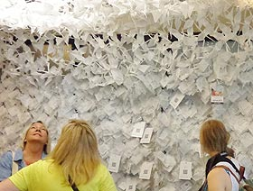 Wall of Hope with over 20,000 notes