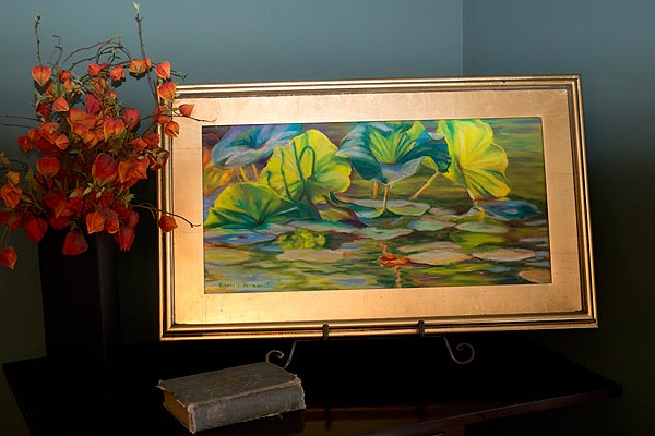 Water Lilies in frame