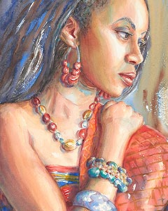 Justice - part of the Courage Ablaze watercolor painting series