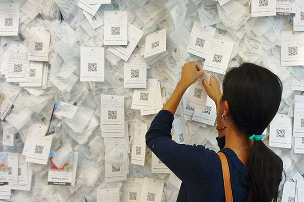 Wall of Hope with nearly 20,000 cards