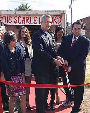 The Scarlet Cord ribbon cutting ceremony in Phoenix, February 2015