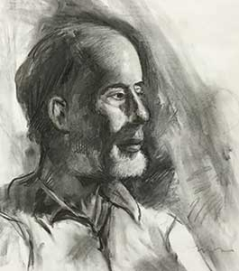 Charcoal study portrait