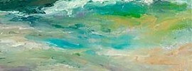 Turquoise Sea painting
