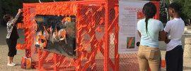 Color Me Orange—Color Me Kind installation at the beginning of ArtPrize Eight