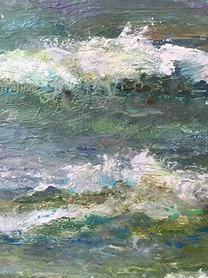 Hand painted waterscape by Pamela Alderman