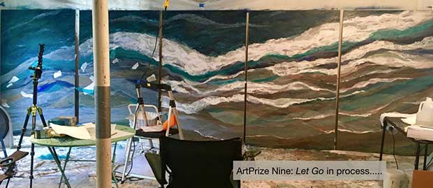 ArtPrize Nine: Let Go in progress