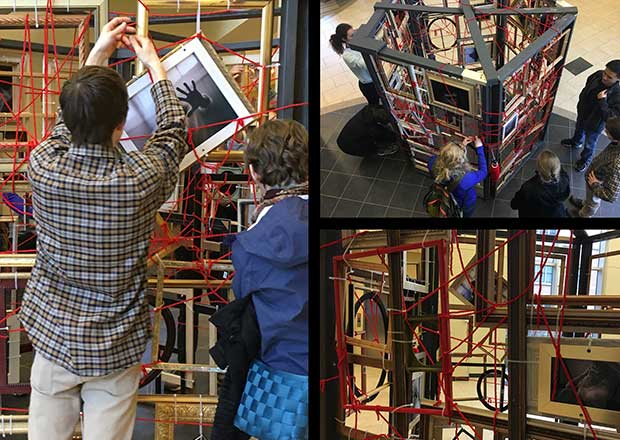 Interactive installation showcased at Grand Valley State University's Frederik Meijer Honors College
